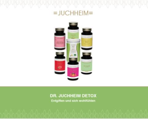Bei Therese Weber - Juchheim Beratung Schweiz - Das Dr. Juchheim DETOX Programm 1 Set 7 teiliges Detox Set + Detox Flyer mit Ernährungsplan und Detox Diary